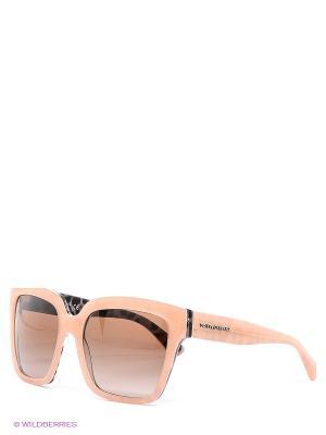 Очки солнцезащитные DOLCE & GABBANA. Цвет: коричневый, кремовый
