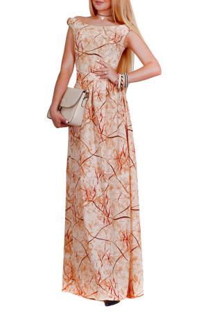 Платье Patricia B.. Цвет: бежевый, коричневый, бордовый