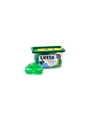 Гель  для стирки концентр. в капсулах LOTTA UNIVERSAL 15 шт. (15*30 гр). Цвет: зеленый