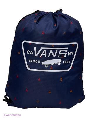 Сумка-мешок VANS. Цвет: синий