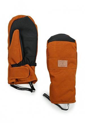 Варежки горнолыжные DC Shoes. Цвет: коричневый