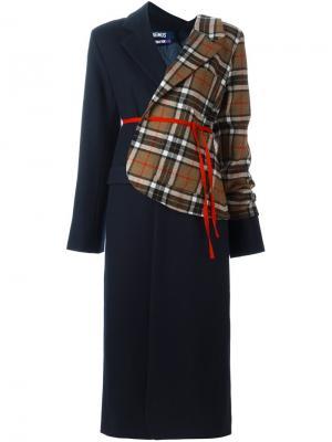 Лоскутное пальто Jacquemus. Цвет: синий