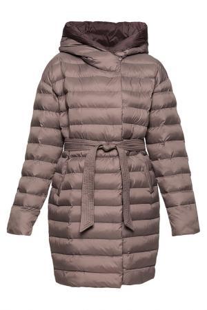 Пальто ODRI Mio. Цвет: коричневый