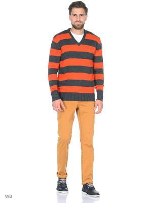 Пуловер Dorothy's Home. Цвет: серый, оранжевый