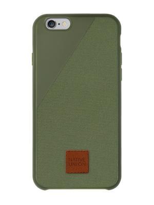 Чехол защитный для iPhone 6 , оливковый CLIC360 Native Union. Цвет: оливковый