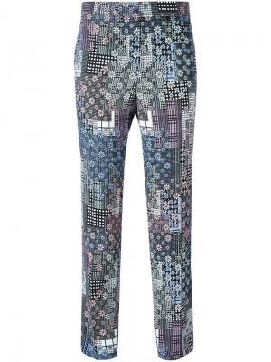 Укороченные брюки с цветочным принтом Versace. Цвет: многоцветный