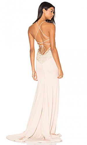 Вечернее платье jay & co Gemeli Power. Цвет: румянец