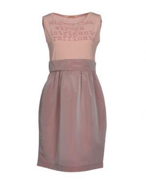 Короткое платье MACRÍ. Цвет: голубиный серый