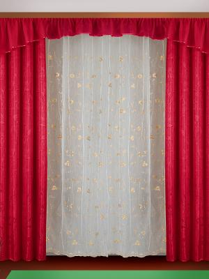 Комплект штор ZLATA KORUNKA. Цвет: красный