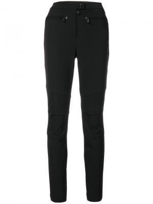 Прямые брюки с завышенной талией Moncler Grenoble. Цвет: чёрный