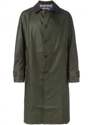 Однобортное пальто Junya Watanabe Comme Des Garçons Man. Цвет: зелёный