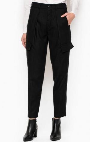 Черные укороченные брюки DRYKORN. Цвет: черный