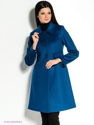 Пальто Personage. Цвет: синий