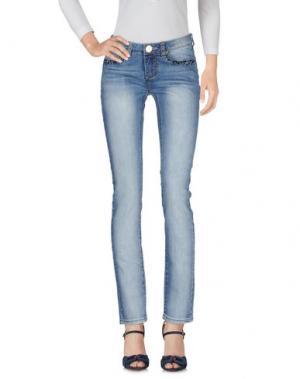 Джинсовые брюки ATELIER FIXDESIGN. Цвет: синий