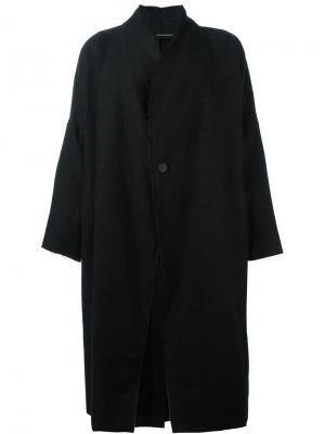 Объемное пальто Isabel Benenato. Цвет: чёрный