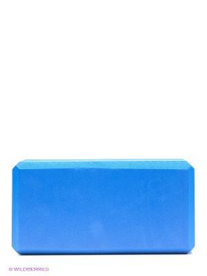 Кирпич для йоги из EVA-пены Yoga brick Ako-Yoga. Цвет: синий