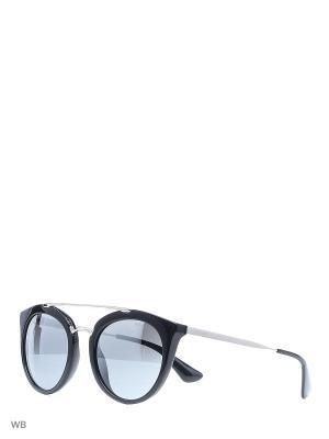 Очки солнцезащитные PRADA. Цвет: черный, серебристый