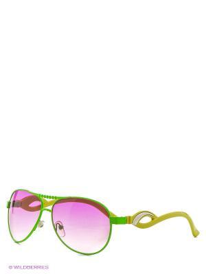 Солнцезащитные очки Vittorio Richi. Цвет: зеленый, розовый