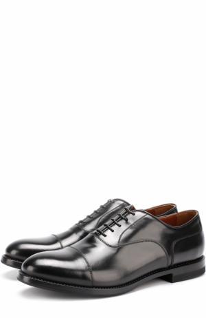 Классические кожаные оксфорды W.Gibbs. Цвет: черный