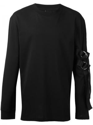 Strap sweatshirt D.Gnak. Цвет: чёрный