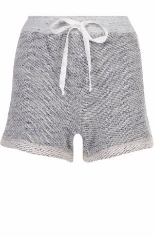 Мини-шорты фактурной вязки Clu. Цвет: серый