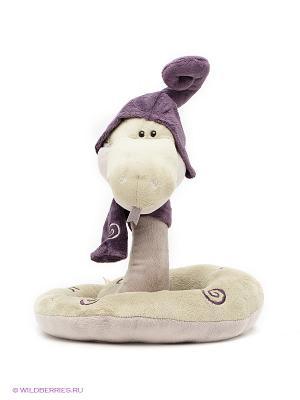 Игрушка змей Луи 30см ORANGE. Цвет: оливковый, темно-фиолетовый
