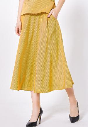 Юбка LO. Цвет: желтый