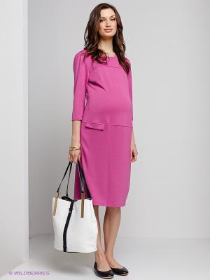 Платье для беременных ФЭСТ. Цвет: розовый