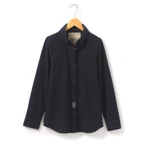 Рубашка с длинными рукавами R teens. Цвет: синий морской