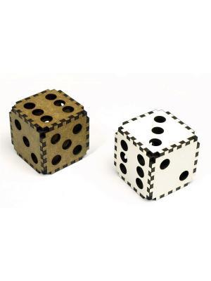 Кубики Правильные игры. Цвет: белый, коричневый