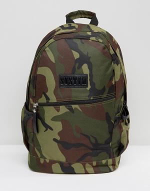 Systvm Камуфляжный рюкзак. Цвет: зеленый