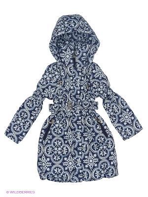 Пальто для девочки демисезонное Rusland. Цвет: синий