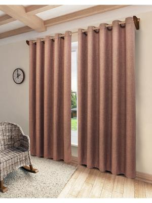 Готовая штора SANPA HOME COLLECTION. Цвет: серо-коричневый