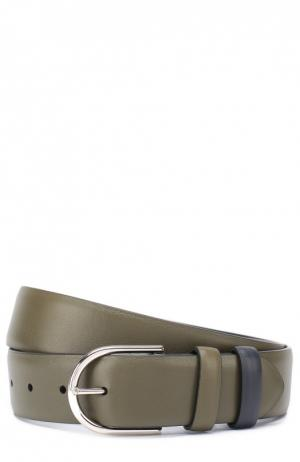 Кожаный ремень с металлической пряжкой Loro Piana. Цвет: темно-синий