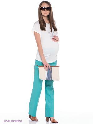 Брюки для беременных ФЭСТ. Цвет: бирюзовый