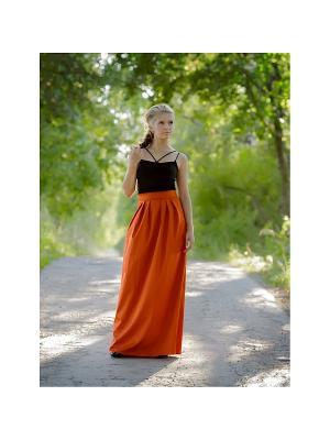Юбка Lus'en. Цвет: оранжевый