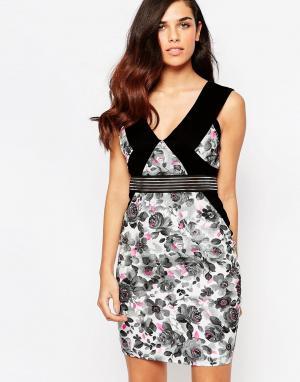 Lashes of London Платье с цветочным принтом Felix. Цвет: мульти
