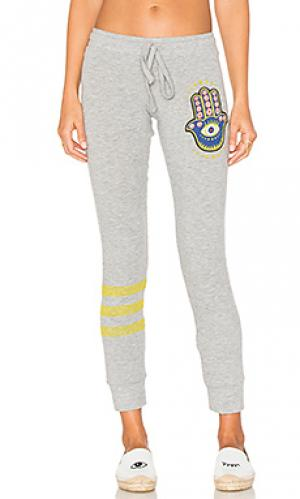 Свободные брюки kizzy hamsa eye Lauren Moshi. Цвет: серый