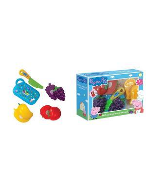 Игровой набор фруктов и овощей, Свинка Пеппа Peppa Pig. Цвет: красный, голубой, зеленый