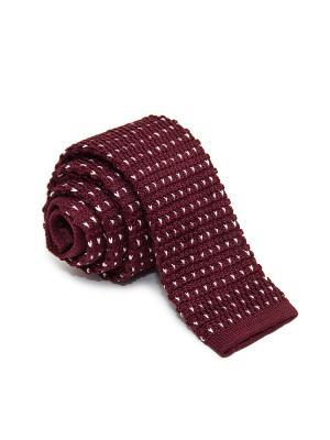 Галстук Churchill accessories. Цвет: темно-бордовый, бордовый, коричневый, красный, белый