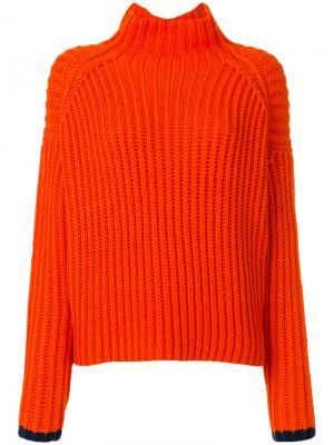 Водолазка свободного кроя Victoria Beckham. Цвет: жёлтый и оранжевый