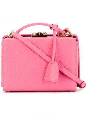 Small Grace tote Mark Cross. Цвет: розовый и фиолетовый