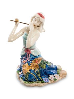 Статуэтка Волшебная Флейта Pavone. Цвет: белый, голубой