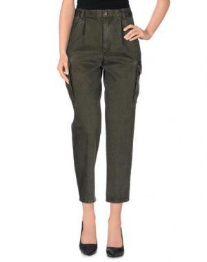 Повседневные брюки CACAO. Цвет: зеленый-милитари