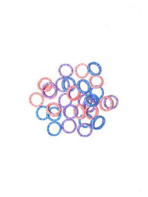 Резинки, 30 шт Lola. Цвет: фиолетовый,розовый,синий