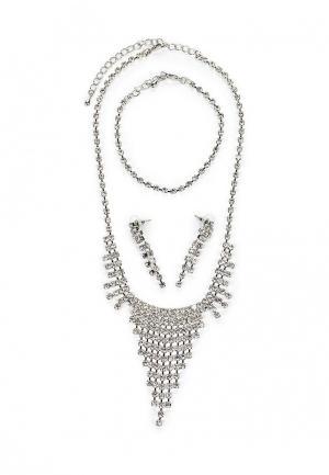 Комплект браслет, колье и серьги Art-Silver. Цвет: серебряный