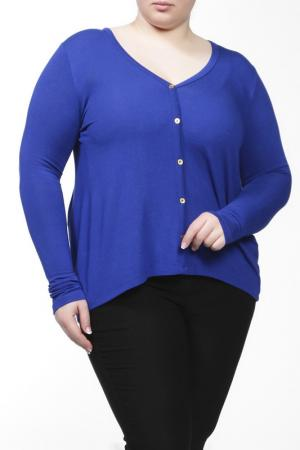 Блузка Sabra. Цвет: синий