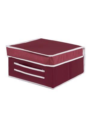 Коробка средняя для вещей Red Rose Homsu. Цвет: бордовый