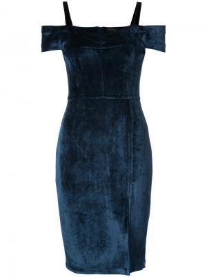 Платье с заниженной линией плеч Yigal Azrouel. Цвет: синий