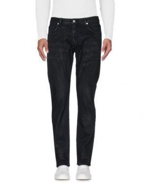 Джинсовые брюки HELMUT LANG. Цвет: свинцово-серый